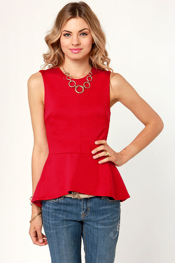 Find red peplum top at Macy's Macy's Presents: The Edit - A curated mix of fashion and inspiration Check It Out Free Shipping with $49 purchase + Free Store Pickup.