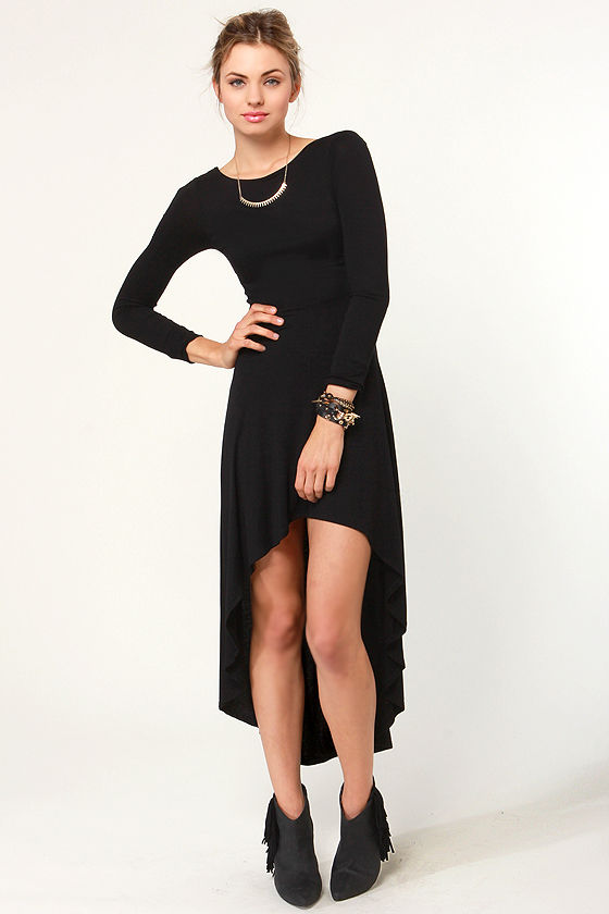 For the Longest Time Backless Black Dress at Lulus.com!
