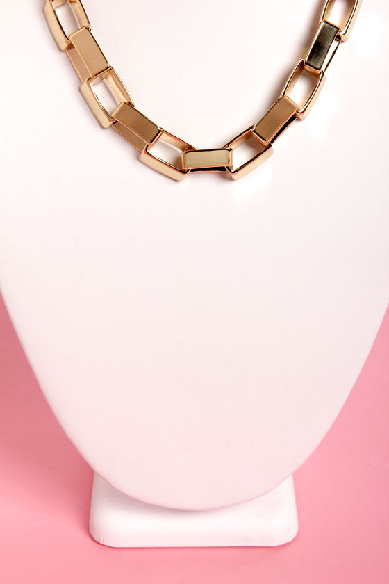 Worth Dimension-ing Gold Chain Necklace at Lulus.com!
