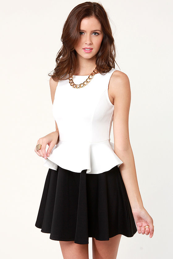 LULUS Exclusive Flare-y Tale Black and White Dress at Lulus.com!