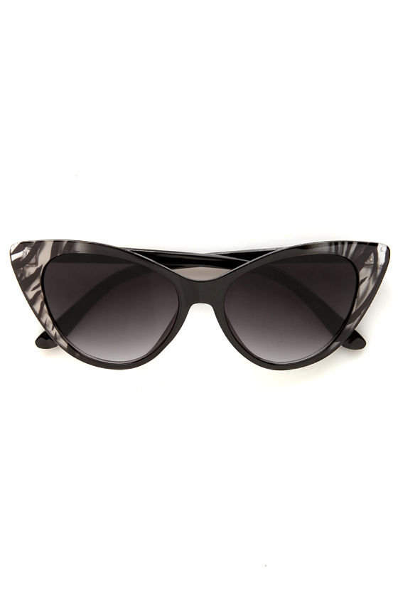 Catcalls Grey Zebra Cat-Eye Sunglasses at Lulus.com!