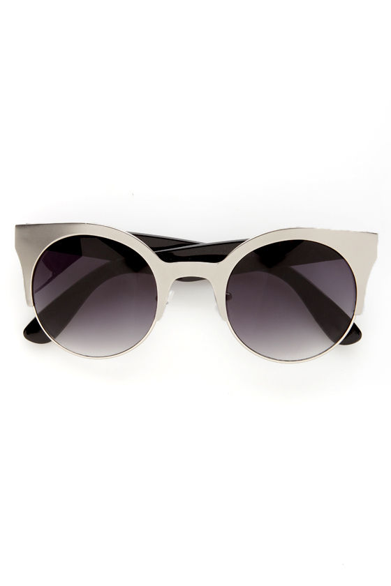 Precious Metals Black and Silver Sunglasses at Lulus.com!