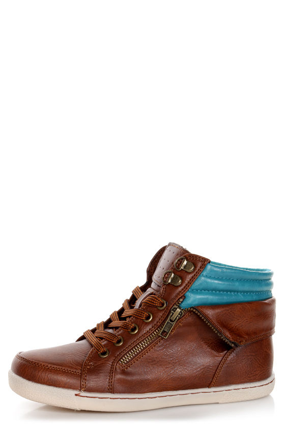 Bamboo Graphic 01 Chestnut Lace-Up High Top Sneakers at Lulus.com!