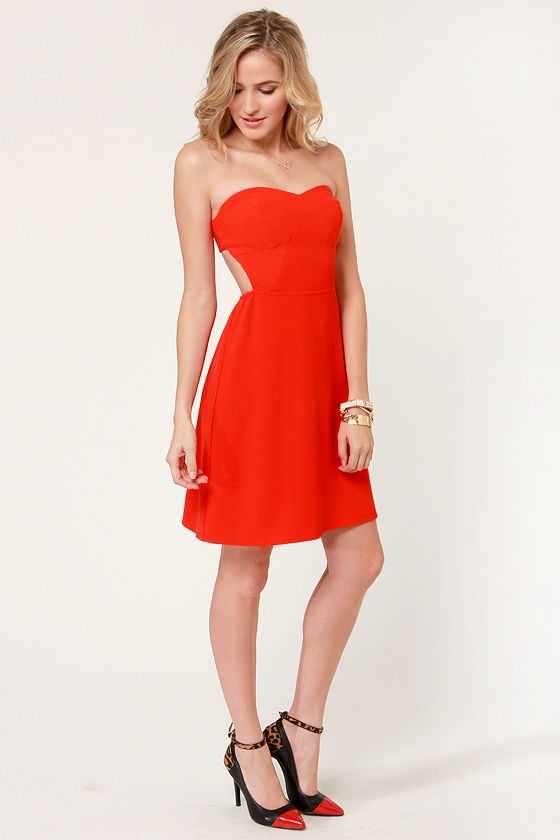 Aryn K Eternal Flame Strapless Orange Dress at Lulus.com!