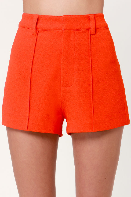 Aryn K Atomic Papaya Orange Shorts at Lulus.com!