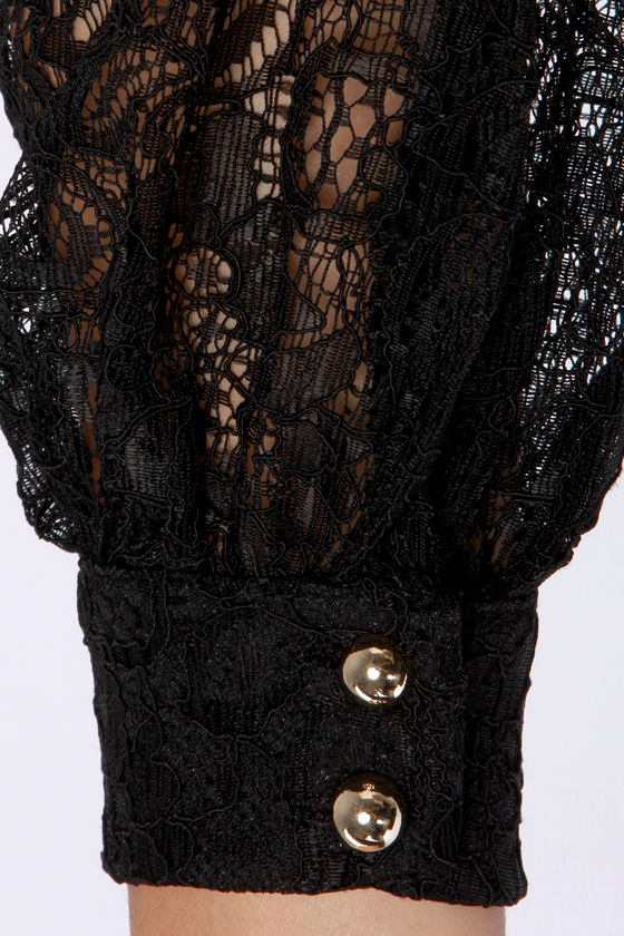 LULUS Exclusive Attagirl Off-the-Shoulder Black Lace Top at Lulus.com!