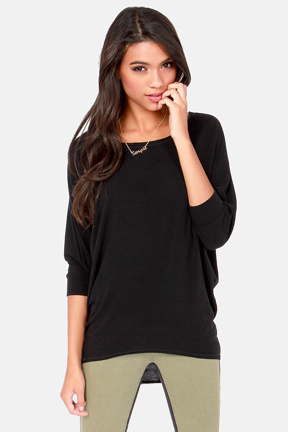 Novel-Tee Shop Black Top at Lulus.com!
