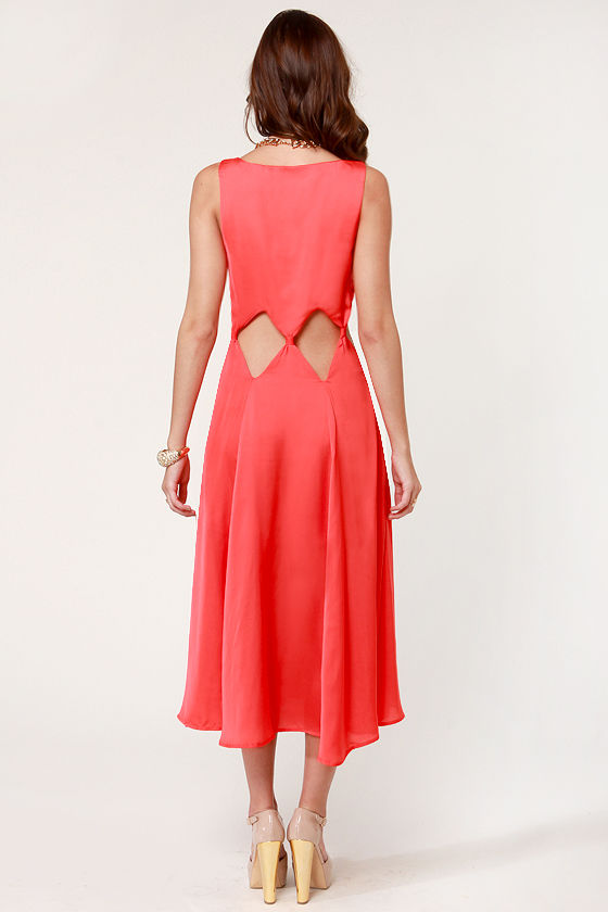 Diamond Cleo Cutout Coral Dress at Lulus.com!