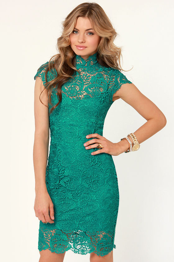Blaque Label Story of Love Teal Lace Dress at Lulus.com!
