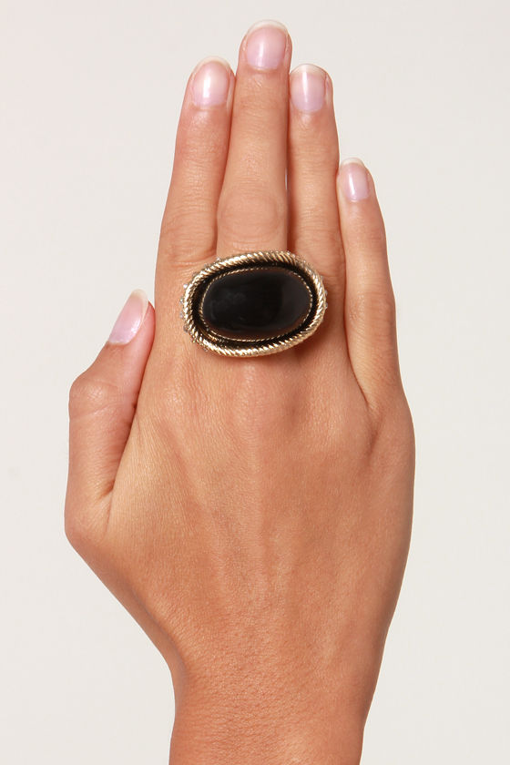 Mixologist Black Cocktail Ring at Lulus.com!