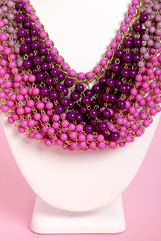 Last Century Purple Beaded Necklace at Lulus.com!