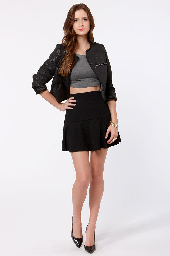 Fit as a Fiddle Flared Black Skirt at Lulus.com!