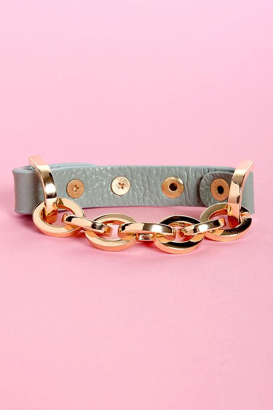 Brace Yourself Mint Green Leather Bracelet at Lulus.com!