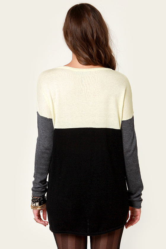 Oodles of Neutrals Color Block Sweater at Lulus.com!