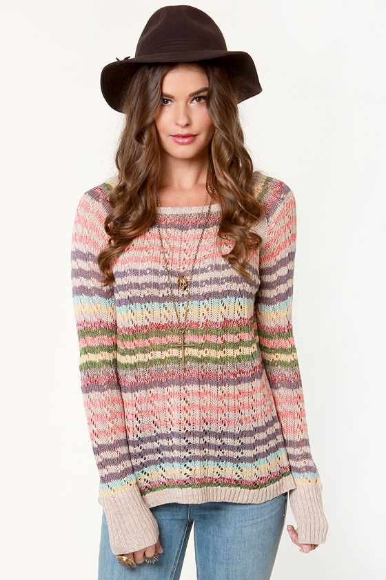 Strati-Fine Lines Striped Sweater at Lulus.com!