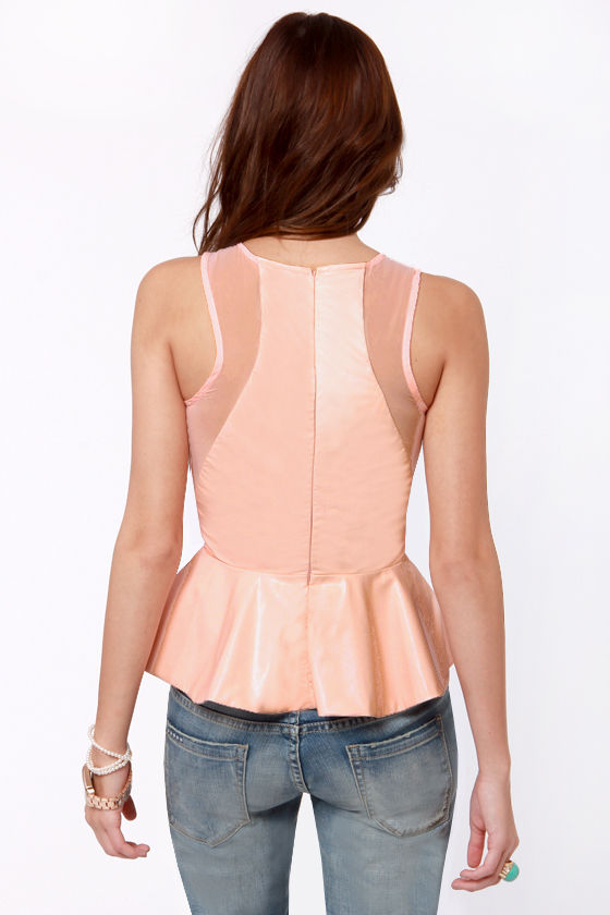 Daily Filigree Laser-Cut Peach Top at Lulus.com!