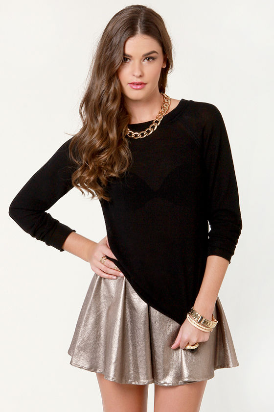 First and Foremost Black Sweater Top at Lulus.com!
