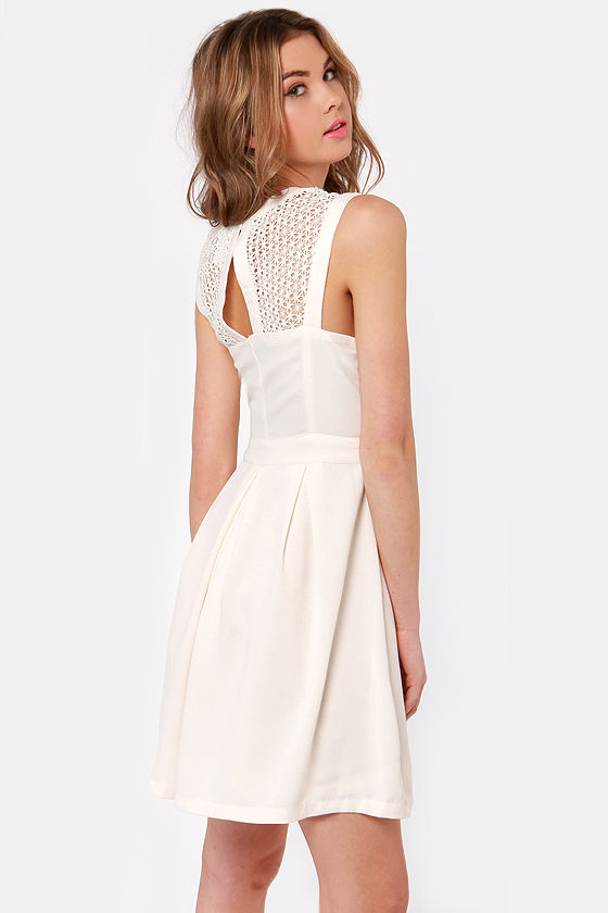 Fair Rosaline Cream Lace Dress at Lulus.com!