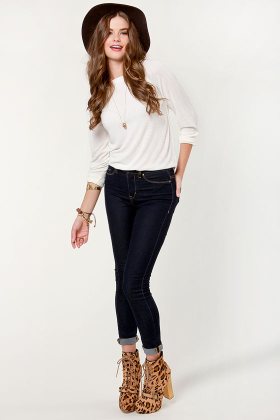 First and Foremost Ivory Sweater Top at Lulus.com!