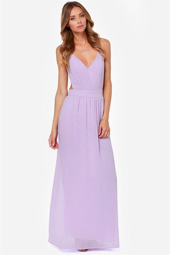 38082c4b9c8 Sexy Backless Dress - Lavender Dress - Maxi Dress -  49.00