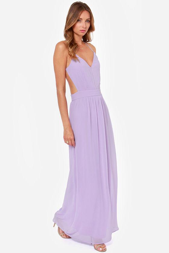 Sexy Backless Dress - Lavender Dress - Maxi Dress - $49.00