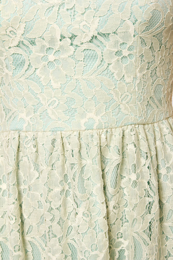 Ice Queen Blue and Cream Lace Dress at Lulus.com!