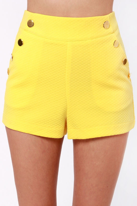 Keep on the Sunny Side Yellow Shorts at Lulus.com!