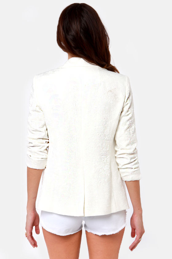 Refined-ers Keepers Embroidered Ivory Blazer at Lulus.com!
