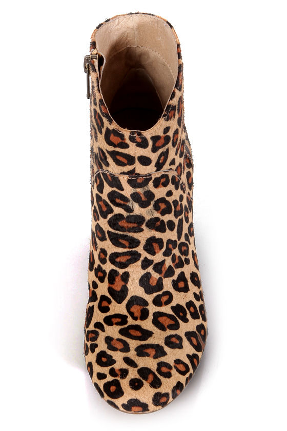 Steve Madden Proccess Leopard Pony Fur Ankle Booties at Lulus.com!
