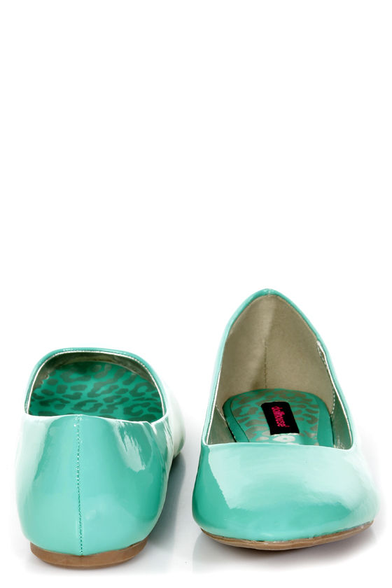 Dollhouse Yummy Sea Green Patent Ballet Flats at Lulus.com!