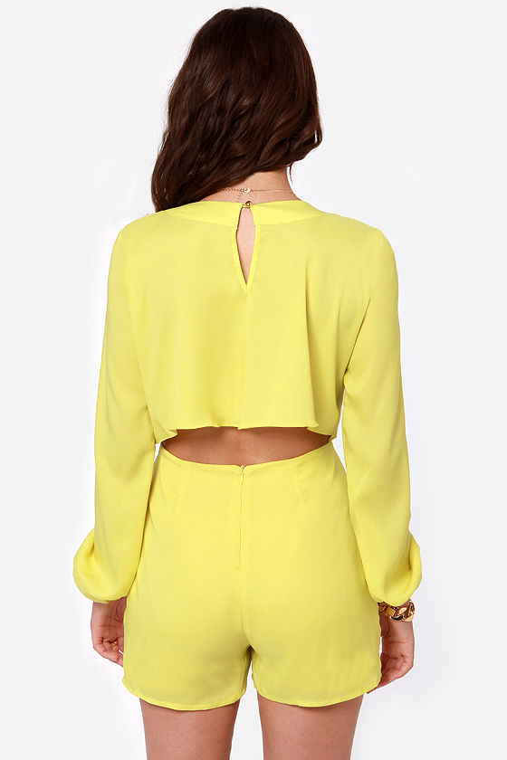 Have a Look-See Yellow Romper at Lulus.com!