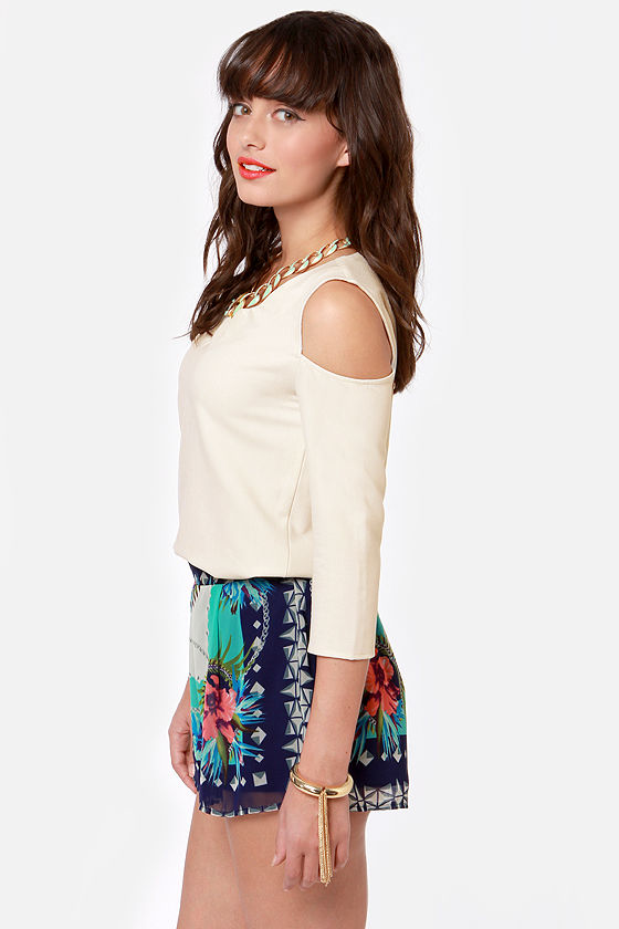 Any Time, Any Place Cutout Ivory Top at Lulus.com!
