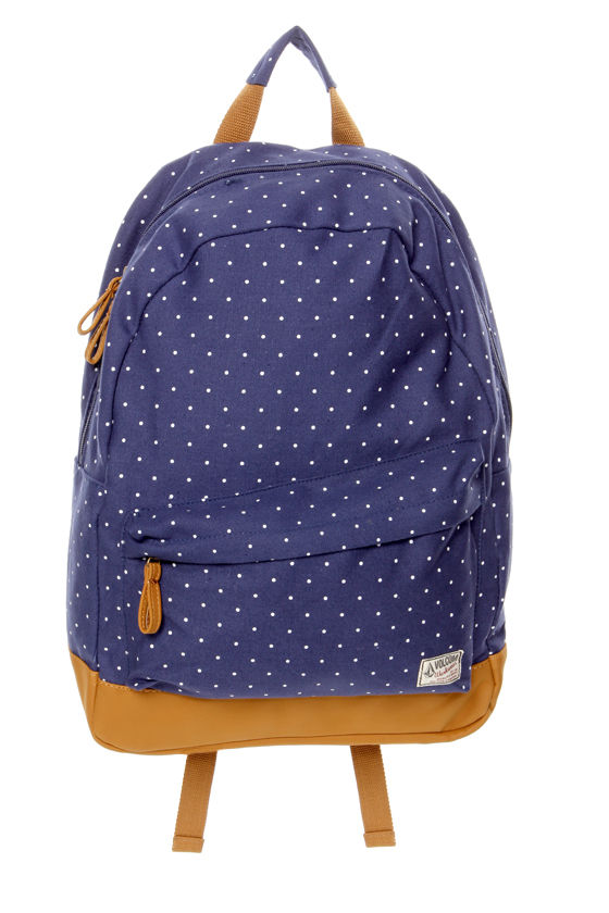 14f7858fa69 Volcom Supply and Demand Backpack - Blue Backpack - Polka Dot ...