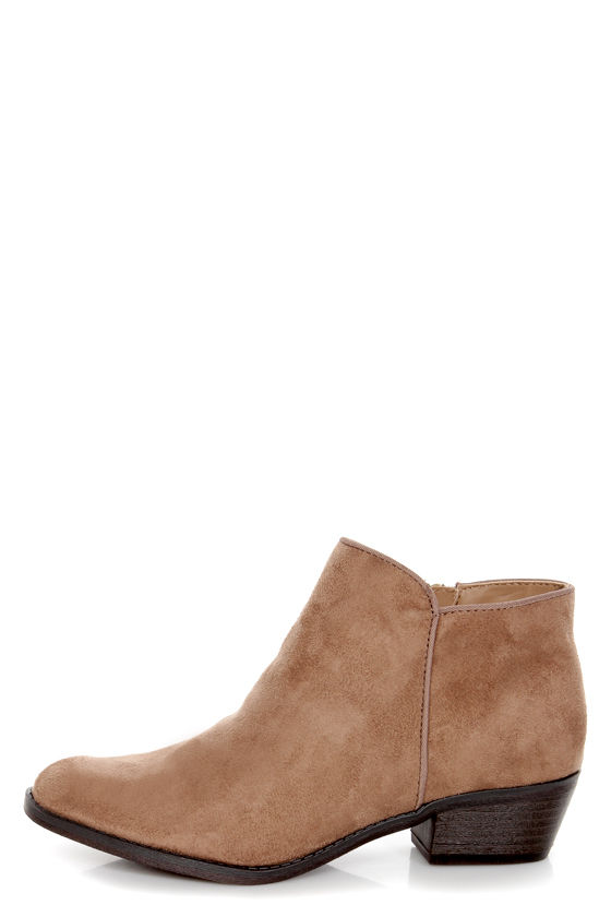 Madden Girl Krespo Taupe Ankle Boots at Lulus.com!