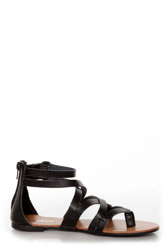 Bamboo Laguna 25 Black Strappy Gladiator Sandals at Lulus.com!