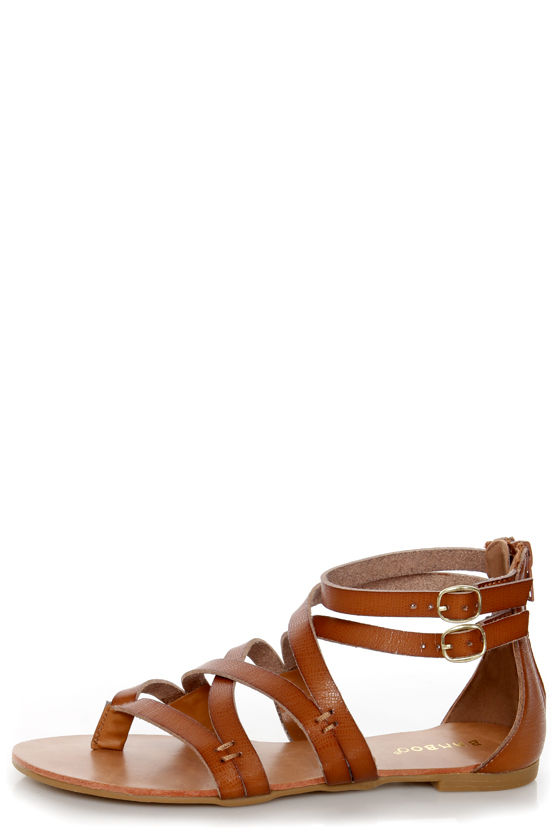 ff95b2fde13dc Bamboo Laguna 25 Chestnut Tan Strappy Gladiator Sandals -  28.00