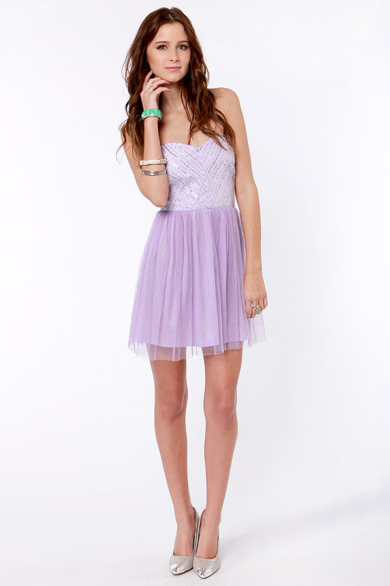 Barre-owed Time Lavender Sequin Dress at Lulus.com!