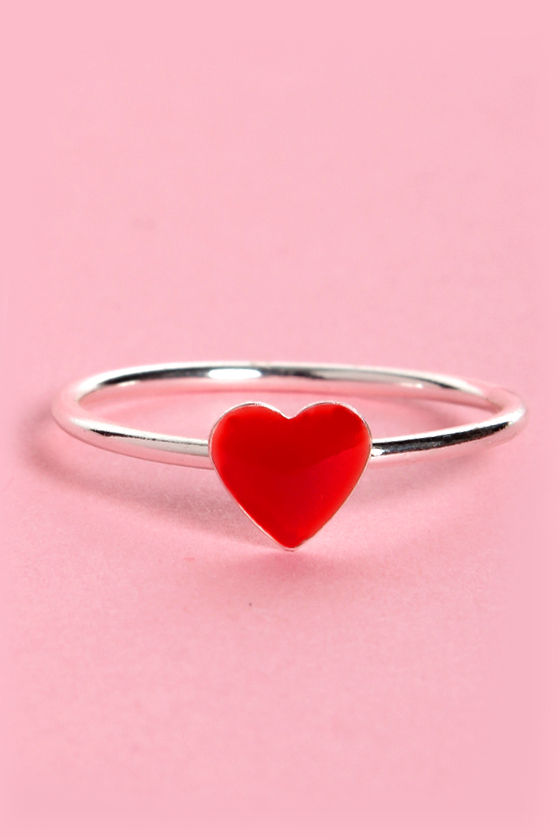 McLovin Silver Heart Ring at Lulus.com!