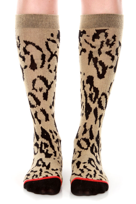 Stance Cheetah Animal Print Socks at Lulus.com!
