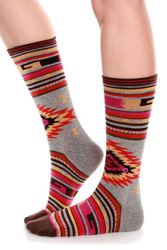 Stance Outpost Multi Southwest Print Socks at Lulus.com!