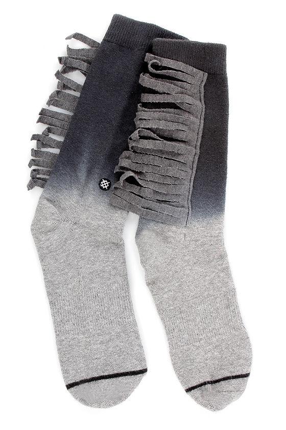 Stance Lola Grey Ombre Fringe Socks at Lulus.com!