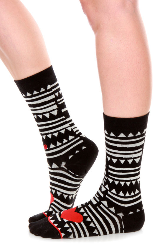 Stance Sharkey Tribal Print Socks at Lulus.com!