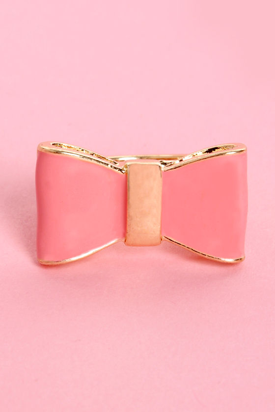 Present Day Pink Bow Ring at Lulus.com!