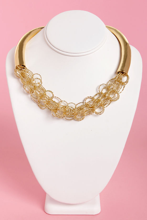 Gold and Plenty Gold Statement Necklace at Lulus.com!