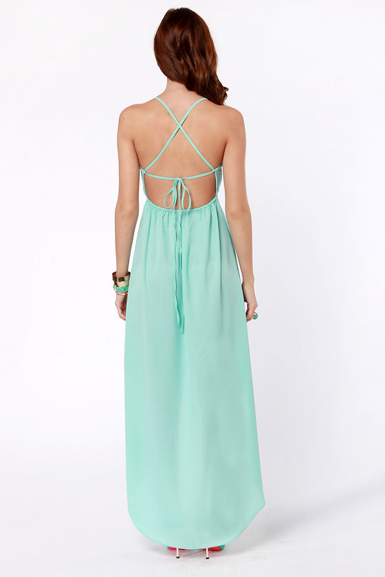 Shock and Thaw Backless Mint Dress at Lulus.com!