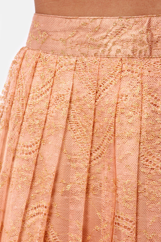 Palace of Versailles Pink Lace Mini Skirt at Lulus.com!