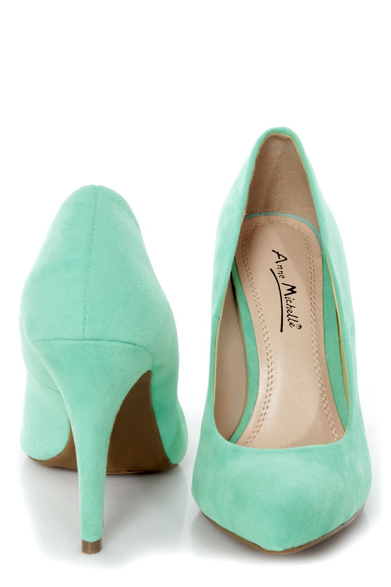 Anne Michelle Adoncia 01 Mint Pointed Pumps at Lulus.com!