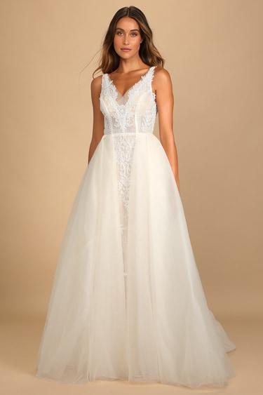 My Every Dream Cream Lace Beaded Sleeveless Maxi Dress