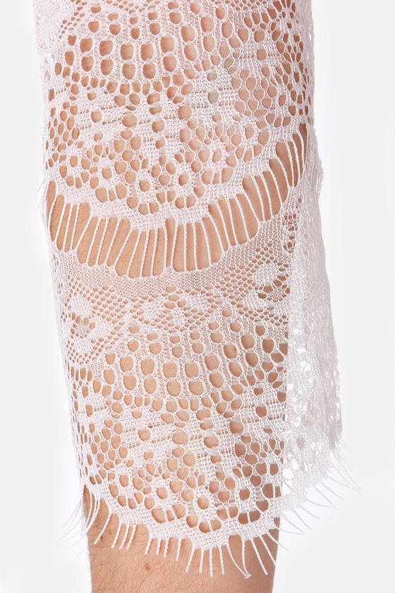 Dream On White Lace Top at Lulus.com!