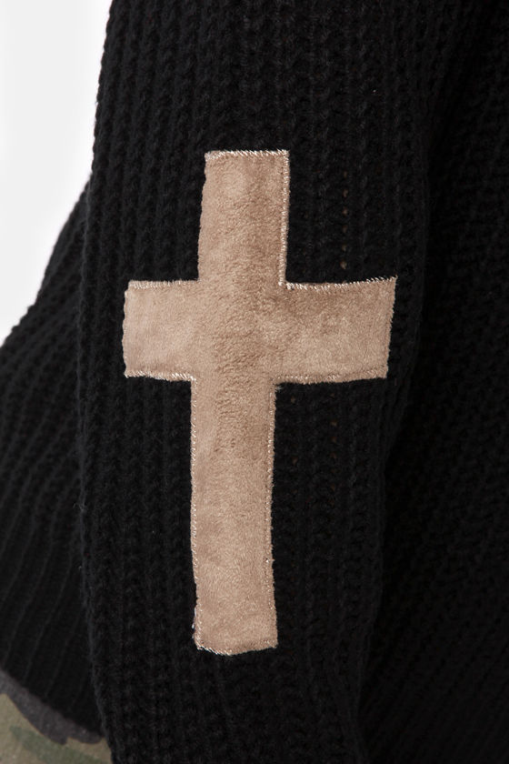 Cross Your Arms and Looking Fly Black Sweater at Lulus.com!